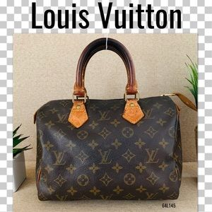 Louis Vuitton Satchel Bag 25 Speedy Monogram bosto